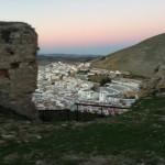Vista del pueblo de Teba